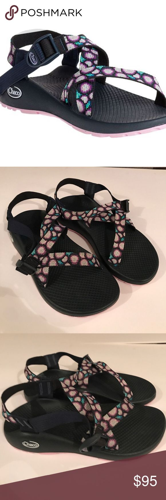 • CHACO • Z/1 classic sandals NWOB Chaco Z/1 classic sandals. Cute purple pattern. New, never worn. Size 8. Open to reasonable offers!  Chaco Shoes Sandals