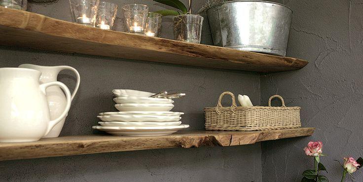 stoere wandplank keuken - Google Search