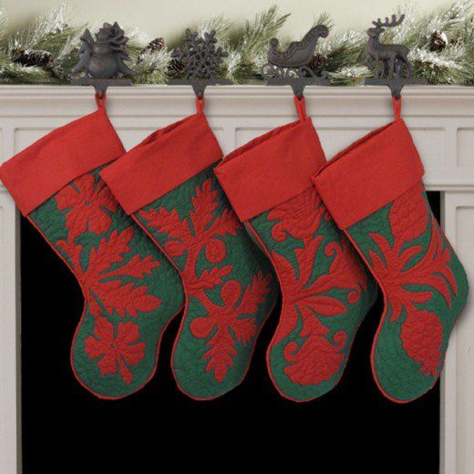 Christmas in Hawaii Traditions Quilted christmas stockings