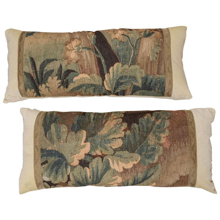 Pair of 18th Century French Tapestry Pillows | From a unique collection of antique and modern pillows and throws at https://www.1stdibs.com/furniture/more-furniture-collectibles/pillows-throws/
