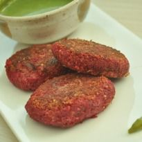 Beetroot Kebab: These #beetroot and tofu #kebabs are a power house of energy. Brimming with antioxidants these kebabs hardly have any calories.