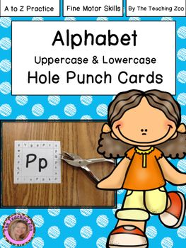 Alphabet Uppercase ad Lowercase Hole Puncher Cads.  This pack contains all letters Aa-Zz.To use these punch cards with your students: -Copy the pages for the letters you are working on or letters your students can recognize from previous letter lessons.-Have students hole punch the letters that match the letter in the center of the card (both uppercase and lowercase).**There are 2 size options included in the pack.The larger size also includes a picture that begins with the letter that the…