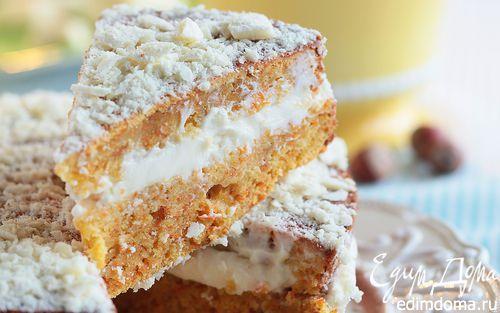 Рецепт – Морковный торт с фундуком