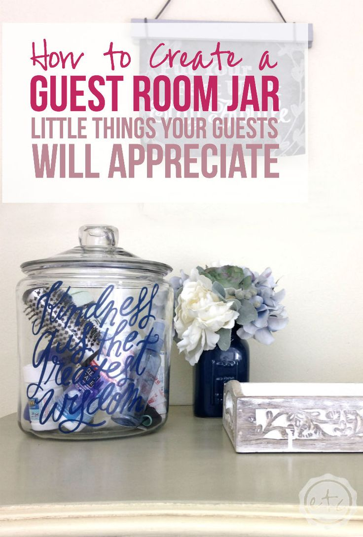 How to create a guest room jar little things your guests for How to make creative things for your room