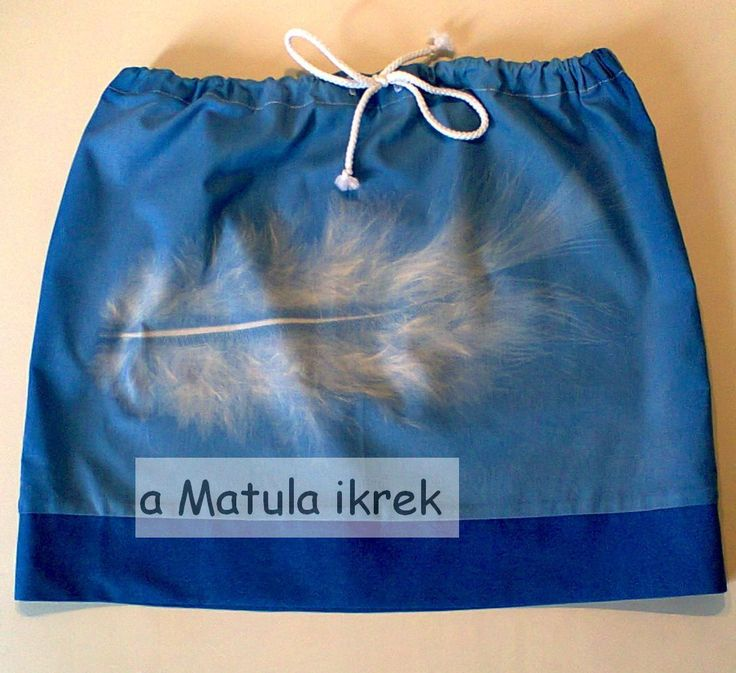 tollpihés szoknya/ beach skirt with feather motif