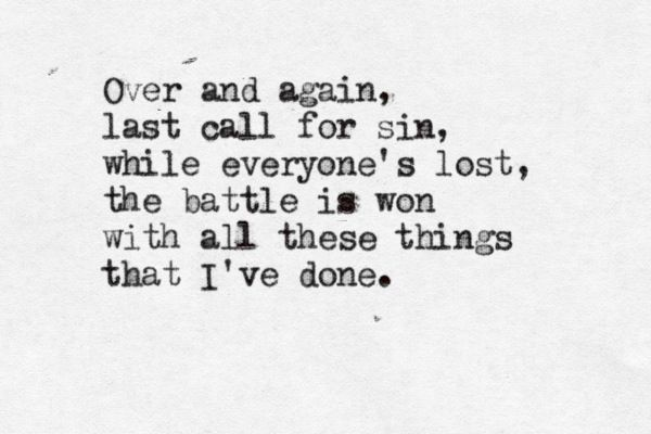 The Killers – All These Things That I've Done Lyrics ...