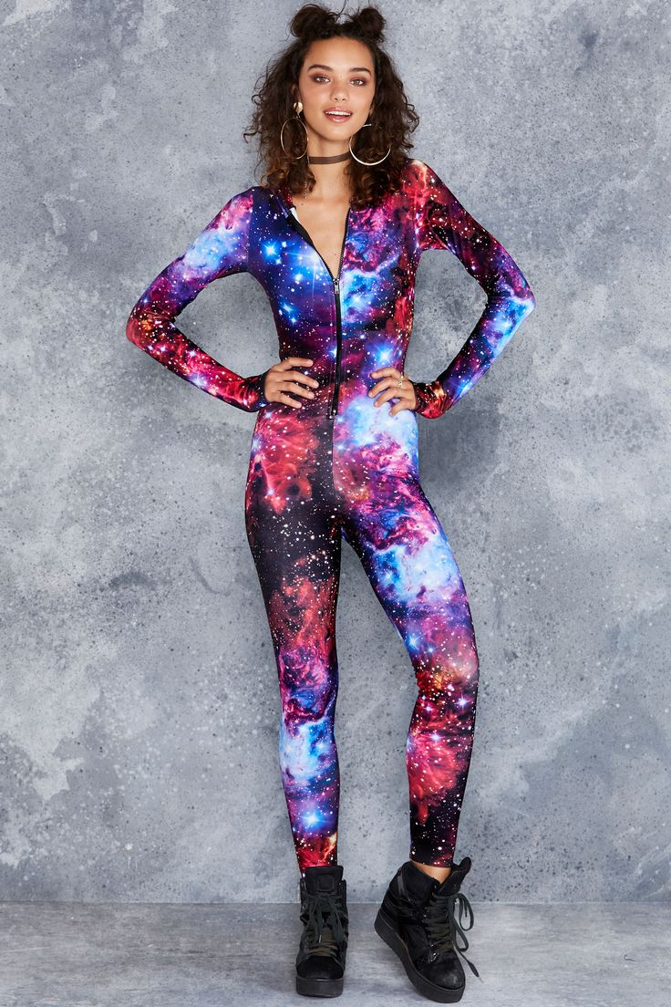 Galaxy Amethyst Snuggle Suit ($150AUD) by BlackMilk Clothing
