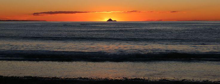 Sunset near Opotiki.