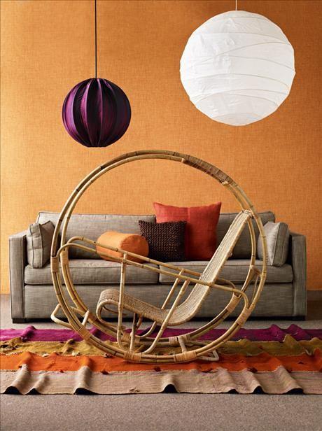 Italian Rocking Chair in rattan, 16 500 SEK, Modernity
