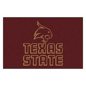 Fanmats Texas State Univ San Marcos Rectangular Indoor Machine-Made Sports Throw Rug (Common: 1-1/2 X 2-1/2; Actual: 1.5