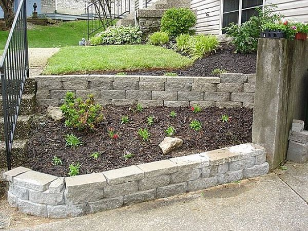 small retaining wall ideas slope garden landscape design - Landscape Design Retaining Wall Ideas