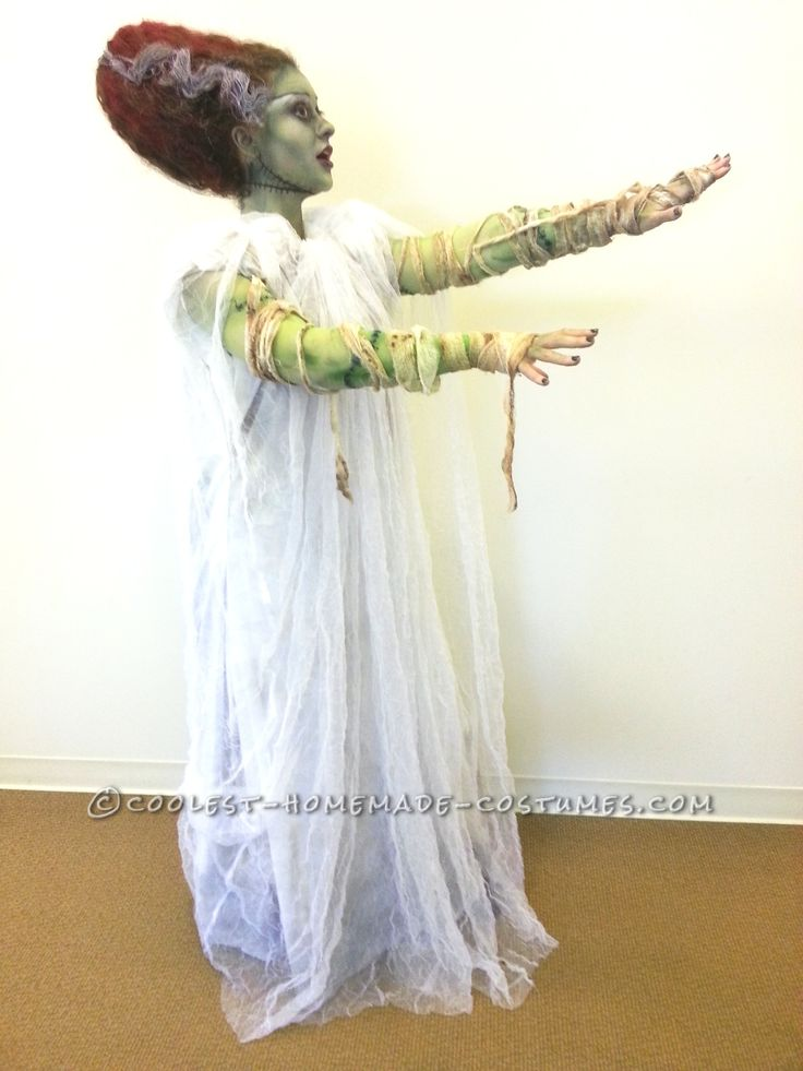 Coolest Technicolor Bride of Frankenstein Costume… Coolest Halloween Costume Contest