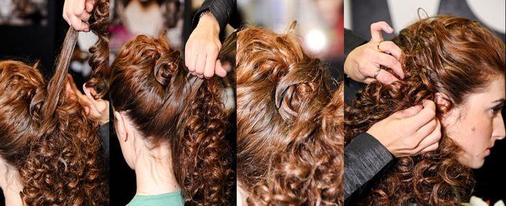 penteados para cabelos cacheados para o dia a dia 5