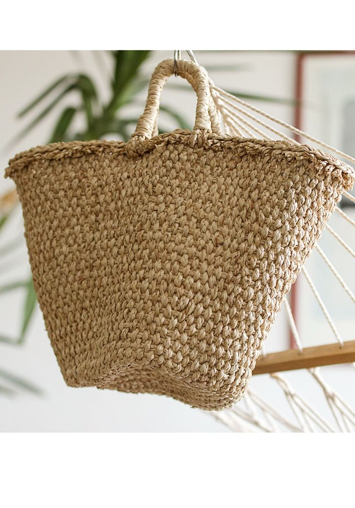 Sun Straw Market Basket  by myfashionfruit.com