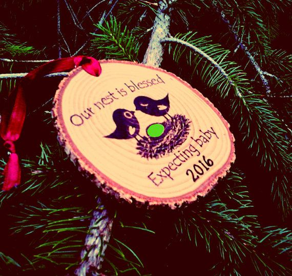 EXPECTING BABY ORNAMENT New Baby Ornament Babys by HudsonBlockCo