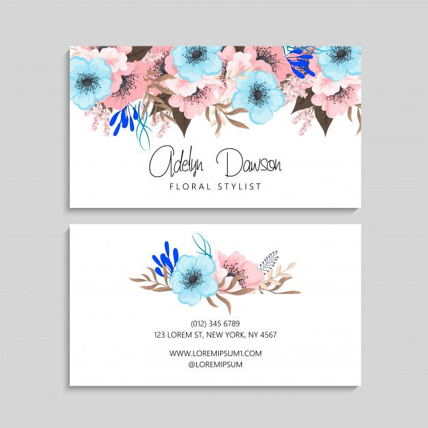 Download Business Card With Beautiful Flowers Template For Free Flower Template Download Business Card Beautiful Flowers
