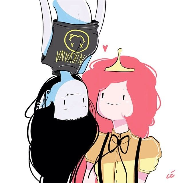 So a fanart of #Marceline and #PrincessBubblegum because I read that they once dated... loove that ideaa. Its so fun to draw this style #AdventureTime