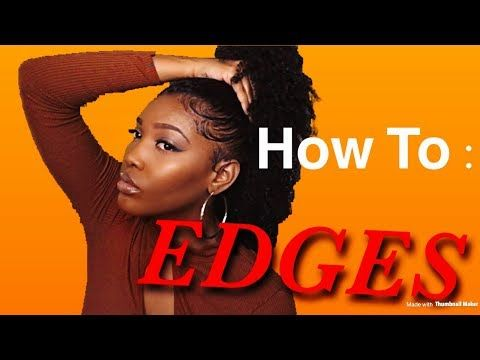 HOW TO LAY THEM EDGES/BABY HAIR TUTORIAL FOR NATURAL HAIR/ LONDON TAYY