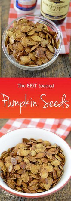 The BEST Toasted Pumpkin Seeds | NoBiggie.net
