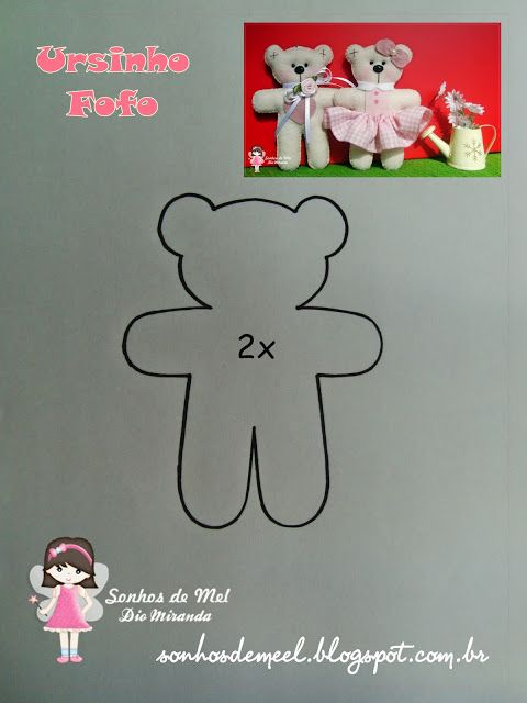 ° ° template Cute Teddy ... - Dreams of Honey 'ੴ - Crafts Felt and fabric
