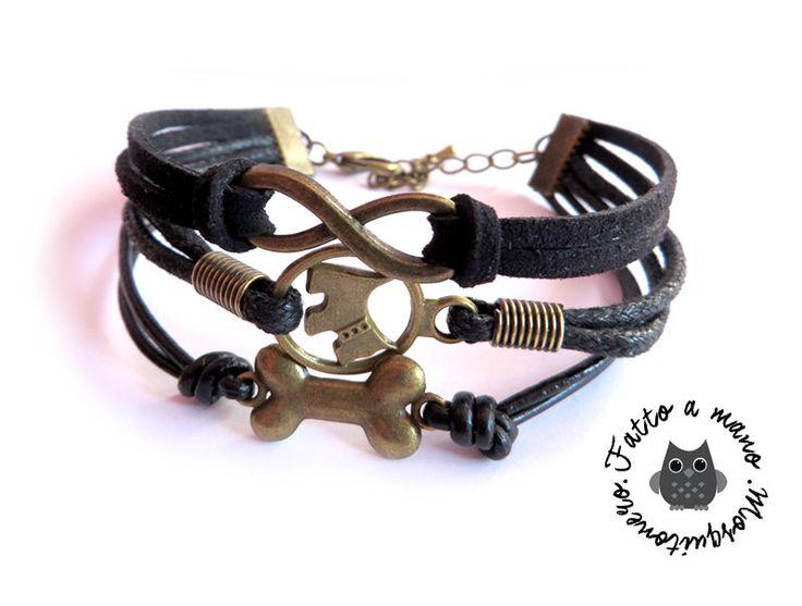 Bracciale UOMO Infinity best friend my dog migliore amico Cane Nero, by «:::Mosquitonero Shop:::», 9,90 € su misshobby.com