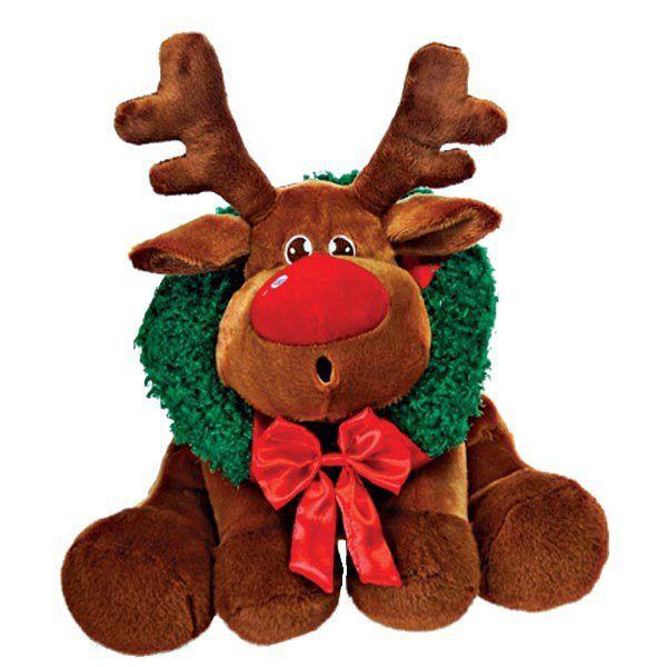 """9.5"""""""" Brown Bean Bag Sitting Reindeer Case Pack 12"""