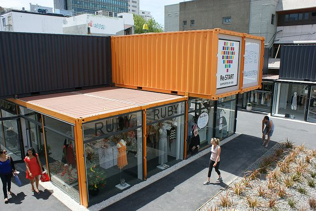 Christchurch city centre mall container by via for Home ideas centre christchurch