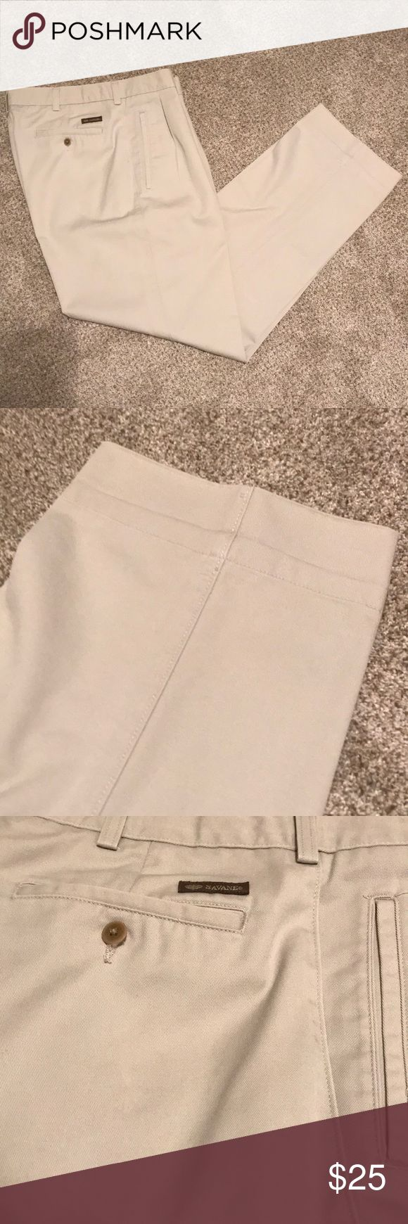 Savane men's khakis 36 x 30 Great condition as seen in photos. Savane Pants Chinos & Khakis
