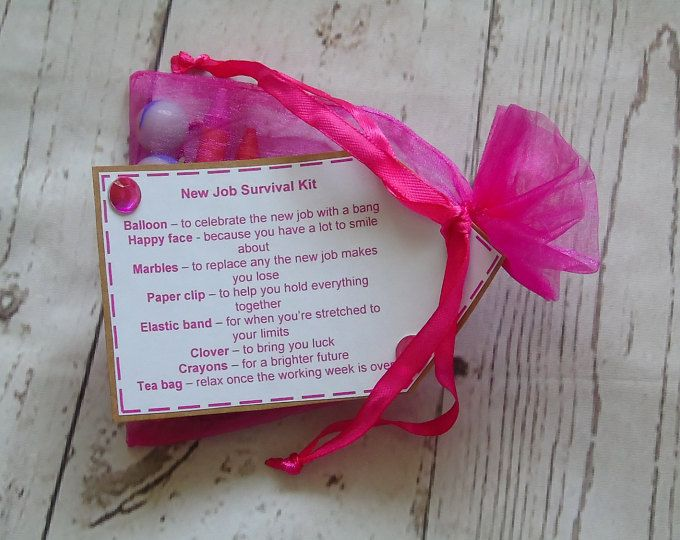 New Job Survival Kit - Personalised on request - colleague gift - good luck - good bye gift