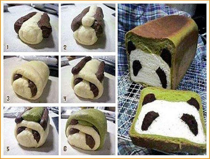 Panda bread ==> http://lovecookeat.com/panda-bread/