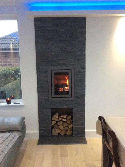 Amazing installation of the Contura i4 fireplace insert.