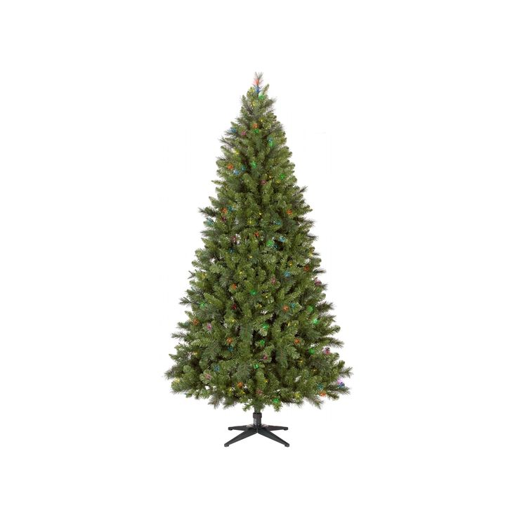 7.5ft Prelit Artificial Christmas Tree Douglas Fir Multicolored Lights - Wondershop, Green
