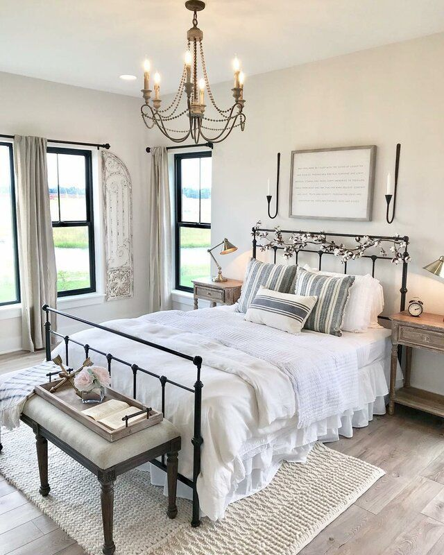 Beautiful French Country Bedroom With A Little Farmhouse Flair I