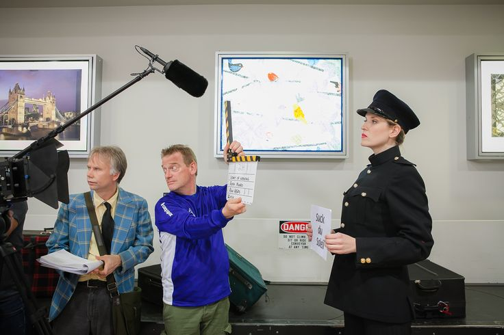 "Behind the scenes ""A Legacy of Whining"" Airport Scene. Photo by: Engelbert Romero"