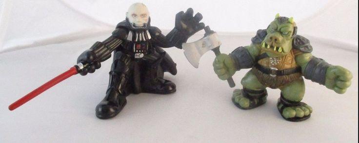 Star Wars Galactic Heroes Lot 2004 Gamorrean 2007 Darth Vader Hasbro #Hasbro