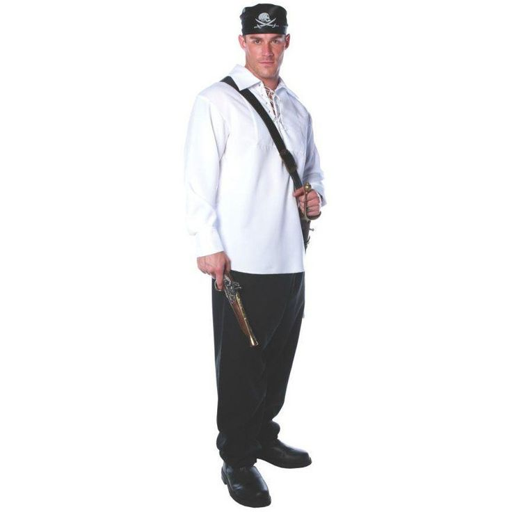 Pirate Shirt Adult Xxlarge