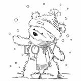 Teddy bear in the snow