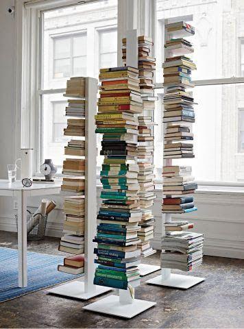 Libreria sapiens sintesi h152 colore bianco   acquista online libreria a colonna sapiens colore bianco