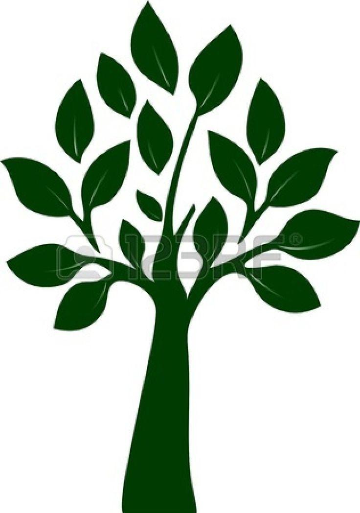 Bewerkbaar Illustratie van de boom Stockfoto - 13639593