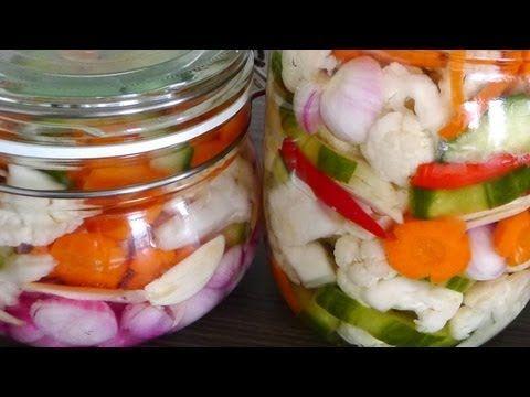 Vietnamese Pickled Vegetables Cauliflower, Carrots, Shallots, Cucumber