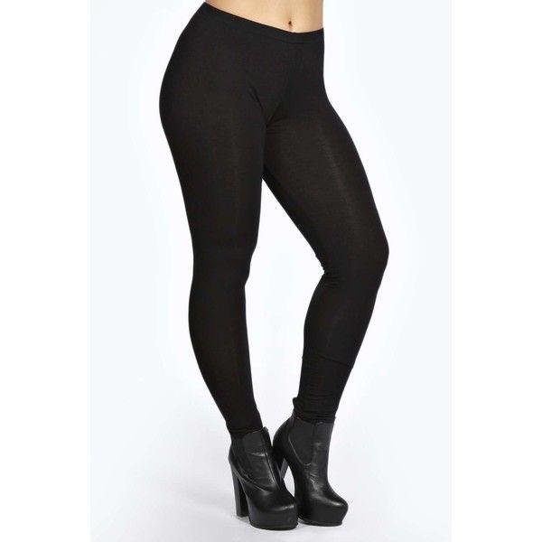 Boohoo Plus Gracie Basic Legging ($14) ❤ liked on Polyvore featuring pants, leggings, stretchy pants, camis, stretchy leggings, wet look leggings and animal print pants