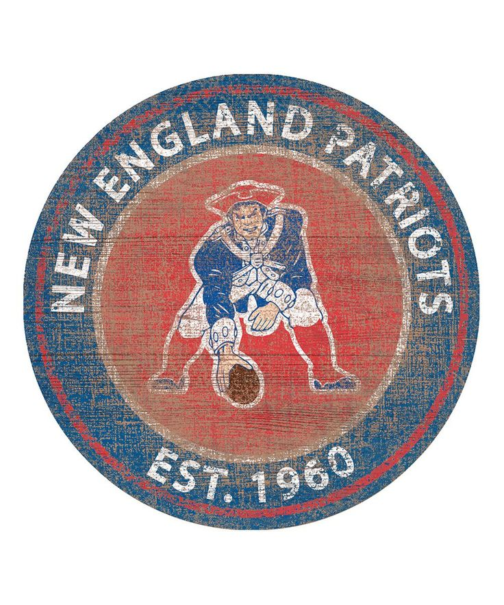 New England Patriots Heritage Logo Sign