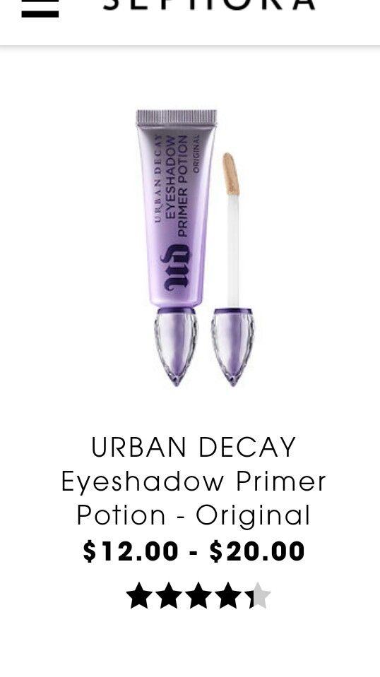 UD eyeshadow primer potion