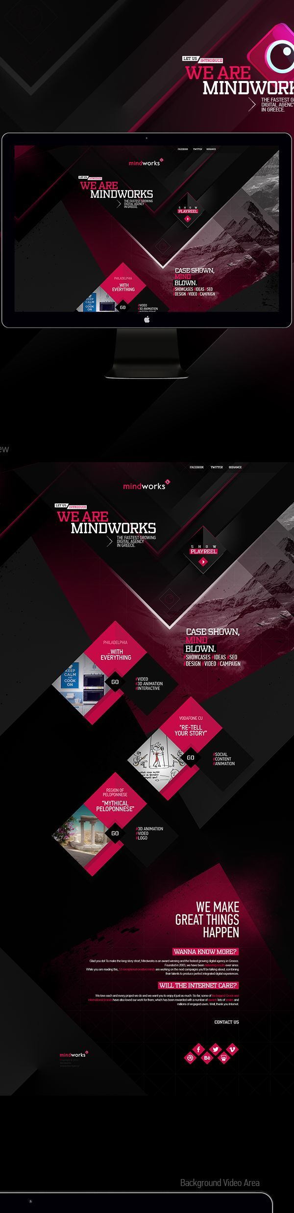Mindworks New Website by Mike Polizos, via Behance #WebDesign #ResponsiveDesign #Design #Web #UI #UX #GUI #mobille #Amazing #Responsive