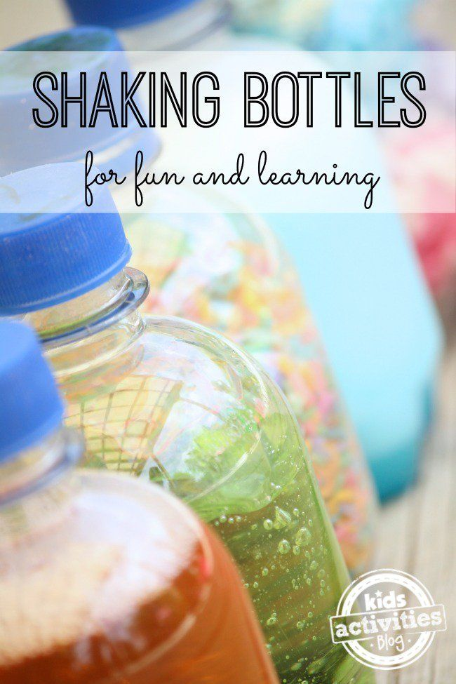 DIY Shaking Bottles for Toddler Learning and Entertainment