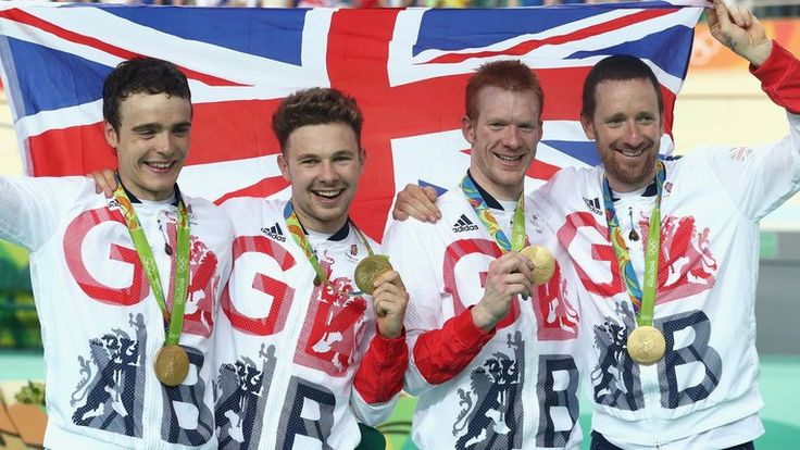 August 13 2016 - Bradley Wiggins becomes first Briton to win 8 Olympic medals as cycling pursuit team win gold