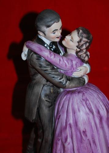 Vintage Arnart Gone with the Wind Rhett Scarlett Figurine 1967 Ltd Edition MGM