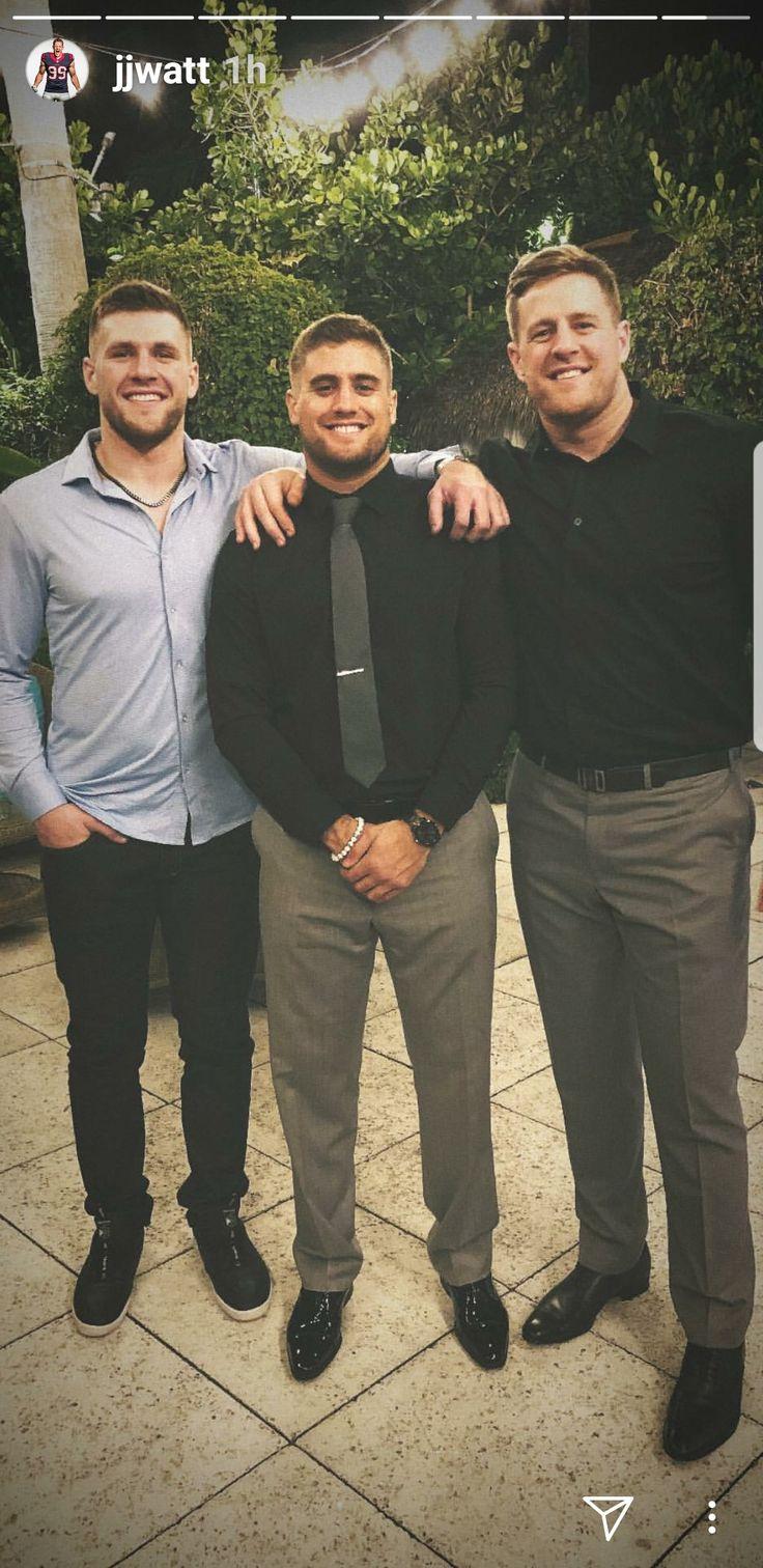 JJ Watt's Instagram- 2.16.18 - Watt Watt Watt - night before Derek's wedding- #BrotherlyLove #ThemAreSomeGreatGenes #DreamBigWorkHard #HuntGreatness #JustinCredible #JustSomeGuysFromPewaukee