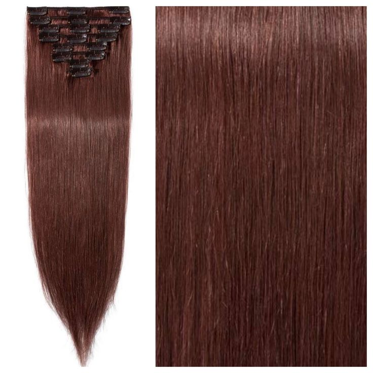 "Auburn Brown Hair Extensions – Straight Hair 26"" 205g"