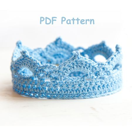 Für kleine Prinzen - Crochet Pattern - Crown Newborn Pattern - Photography Prop Pattern